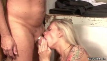 Woman with great ass feels huge knob stuffing cunt
